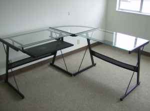 Glass desk on Craig's List