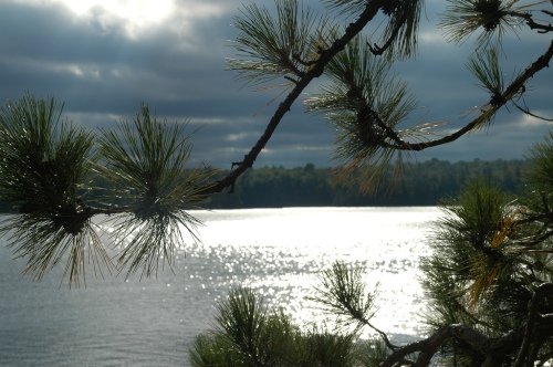 Lake after the rain passes