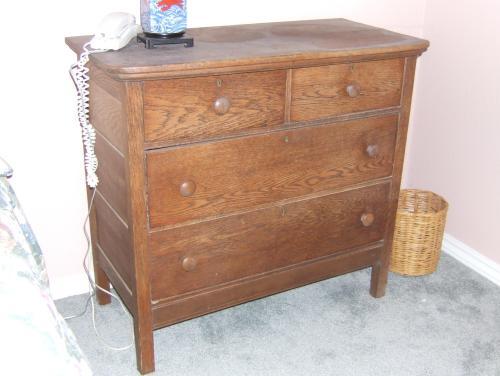 shorter oak bureau
